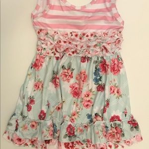Pint/pink floral tank dress